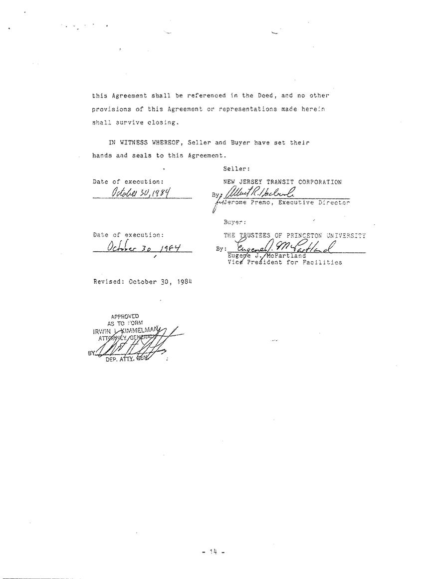 PU- NJ Sales Agreement | Save the Princeton Dinky